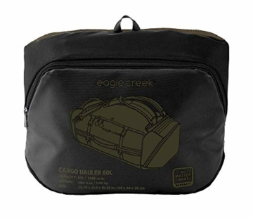 Eagle Creek Cargo Hauler - superleichte Reisetasche mit 60 L Volumen I Robuster Rucksack für Camping und Outdoor I abrieb- & wasserbeständiges Gewebe, Jet Black - 12