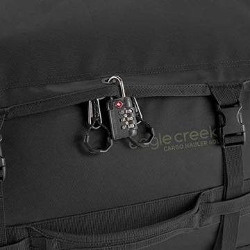 Eagle Creek Cargo Hauler - superleichte Reisetasche mit 60 L Volumen I Robuster Rucksack für Camping und Outdoor I abrieb- & wasserbeständiges Gewebe, Jet Black - 5