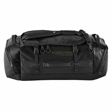 Eagle Creek Cargo Hauler - superleichte Reisetasche mit 60 L Volumen I Robuster Rucksack für Camping und Outdoor I abrieb- & wasserbeständiges Gewebe, Jet Black - 6