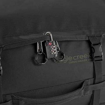 Eagle Creek Cargo Hauler - superleichte Reisetasche mit 60 L Volumen I Robuster Rucksack für Camping und Outdoor I abrieb- & wasserbeständiges Gewebe, Jet Black - 9