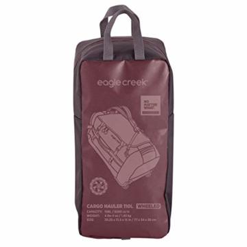 Eagle Creek Cargo Hauler - superleichte Reisetasche mit Rollen und Rucksacktragegurten mit 110 L Volumen I passend für Reisen von 1-2 Wochen I abrieb- & wasserbeständiges Gewebe, Earth Red - 7