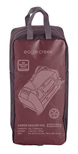 Eagle Creek Cargo Hauler - superleichte Reisetasche mit Rollen und Rucksacktragegurten mit 110 L Volumen I passend für Reisen von 1-2 Wochen I abrieb- & wasserbeständiges Gewebe, Earth Red - 9