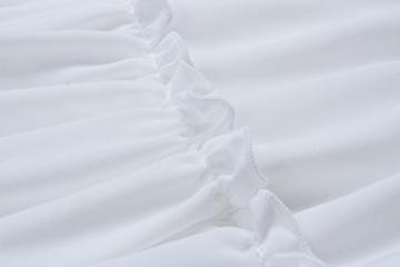 ECOWISH V Ausschnitt Kleid Damen Spitzenkleid Träger Rückenfreies Kleider Sommerkleider Strandkleider Weiß XL - 5