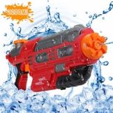 EKKONG Wasserpistole, 2200ML Wasserpistolen groß mit 10 Meter Reichweite für Kinder und Erwachsene Sommerpartys im Freien, Strand, Pool, Garten Strandspielzeug (Rot-Schwarz) - 1