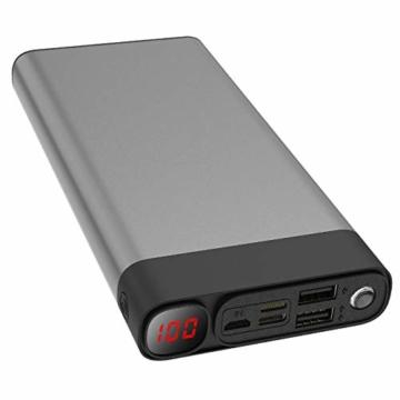 Externer Akku 30000mAh Powerbanks Mobiles Portable Ladegerät Die kann Nicht nur Ihr Handy Aufladen sondern sie ist auch kompatibel mit Spielkonsole ( Grau_30000mAh) - 1