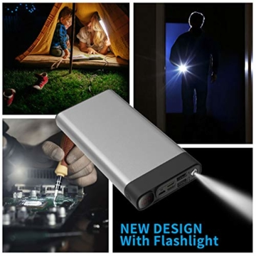 Externer Akku 30000mAh Powerbanks Mobiles Portable Ladegerät Die kann Nicht nur Ihr Handy Aufladen sondern sie ist auch kompatibel mit Spielkonsole ( Grau_30000mAh) - 6