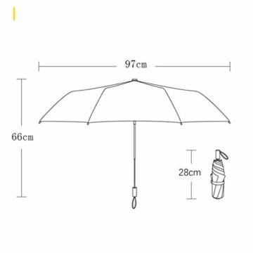 Faltbar Sonnenschirm Rain Regenschirm Öffnen Golf Schirme Überdachung Belüftet Winddicht wasserdichte Doppeltem Verwendungszweck UV-Faltschirm 8 Bone (Blau) - 2