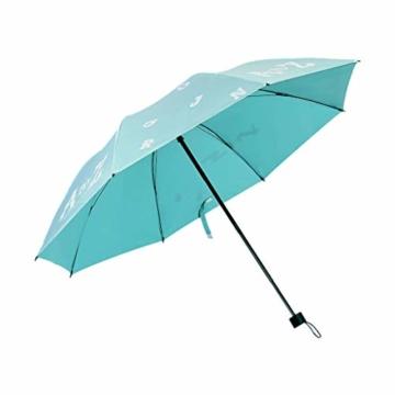 Faltbar Sonnenschirm Rain Regenschirm Öffnen Golf Schirme Überdachung Belüftet Winddicht wasserdichte Doppeltem Verwendungszweck UV-Faltschirm 8 Bone (Blau) - 1