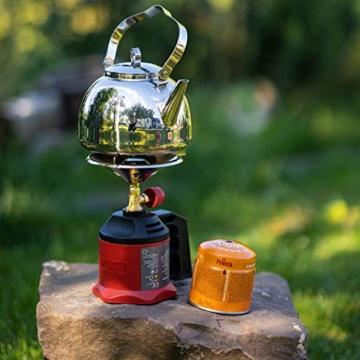 FUMOSA Stechkartuschen Set für Campingkocher, Lampen und Lötbrenner, 190g - 4 Kartuschen - 3