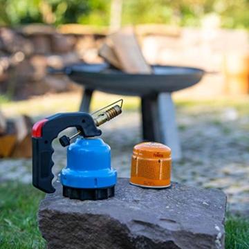 FUMOSA Stechkartuschen Set für Campingkocher, Lampen und Lötbrenner, 190g - 4 Kartuschen - 5