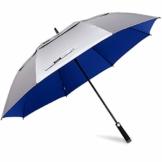 G4Free 62/68 Inch UV-Schutz Winddicht Sonnen- und Regenschirm Golfschirm Autorisches Öffnen Doppelbaldachin Belüftet Übergröße für Herren und Damen - 1