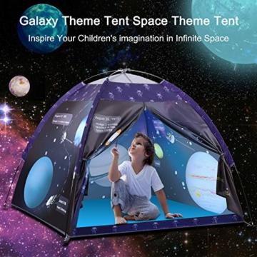 Galaxis Kinderzelt für Drinnen und Draußen, Exqline Weltraumwelt Spielzelt Garten Kinderzelt, Spielastronauten Campingzelt für Jungen und Mädchen - 2