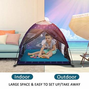 Galaxis Kinderzelt für Drinnen und Draußen, Exqline Weltraumwelt Spielzelt Garten Kinderzelt, Spielastronauten Campingzelt für Jungen und Mädchen - 3