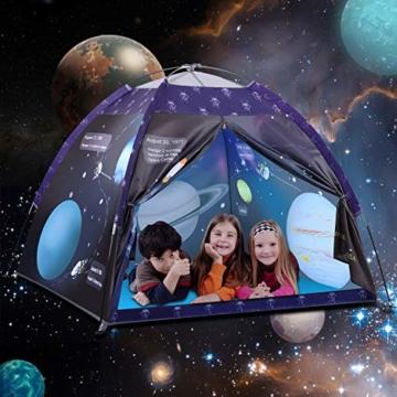 Galaxis Kinderzelt für Drinnen und Draußen, Exqline Weltraumwelt Spielzelt Garten Kinderzelt, Spielastronauten Campingzelt für Jungen und Mädchen - 4