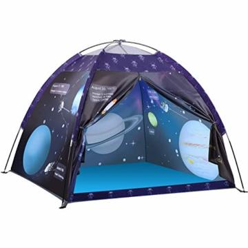 Galaxis Kinderzelt für Drinnen und Draußen, Exqline Weltraumwelt Spielzelt Garten Kinderzelt, Spielastronauten Campingzelt für Jungen und Mädchen - 1