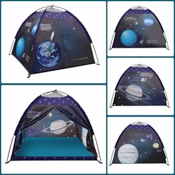 Galaxis Kinderzelt für Drinnen und Draußen, Exqline Weltraumwelt Spielzelt Garten Kinderzelt, Spielastronauten Campingzelt für Jungen und Mädchen - 5
