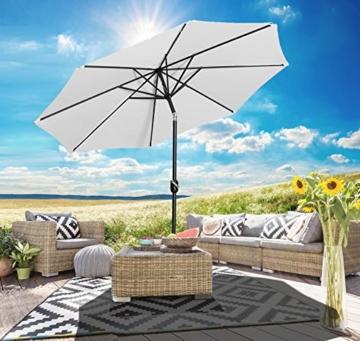 Gartenfreude Sonnenschirm, Durchmesser 270 cm, UV 50+, 270 x 270 x 245 cm, creme, 4900-1000-100 - 2
