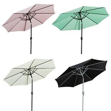 Gartenfreude Sonnenschirm, Durchmesser 270 cm, UV 50+, 270 x 270 x 245 cm, creme, 4900-1000-100 - 3