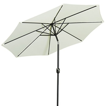 Gartenfreude Sonnenschirm, Durchmesser 270 cm, UV 50+, 270 x 270 x 245 cm, creme, 4900-1000-100 - 1