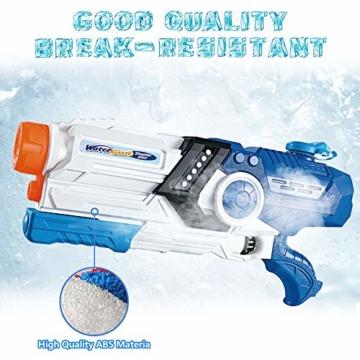 Gimsan Wasserpistole Spielzeug, 2000ML Spritzpistolen für Kinder Erwachsene Groß Wasserspritzpistolen 8-10 Metern Langer Reichweiter - 3