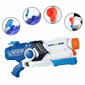 Gimsan Wasserpistole Spielzeug, 2000ML Spritzpistolen für Kinder Erwachsene Groß Wasserspritzpistolen 8-10 Metern Langer Reichweiter - 4