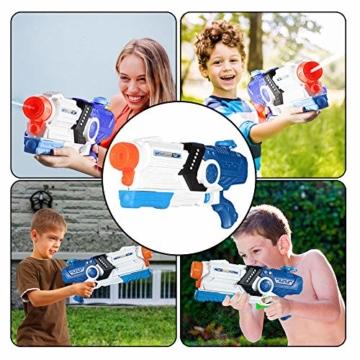 Gimsan Wasserpistole Spielzeug, 2000ML Spritzpistolen für Kinder Erwachsene Groß Wasserspritzpistolen 8-10 Metern Langer Reichweiter - 5