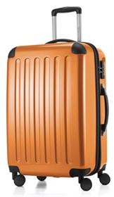 HAUPTSTADTKOFFER - Alex - 4 Doppel-Rollen Hartschalen-Koffer Koffer Trolley Rollkoffer Reisekoffer, TSA, 65 cm, 74 Liter, Orange - 1