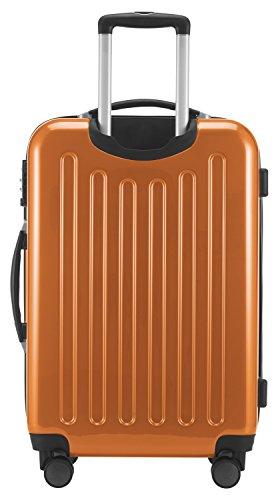 HAUPTSTADTKOFFER - Alex - 4 Doppel-Rollen Hartschalen-Koffer Koffer Trolley Rollkoffer Reisekoffer, TSA, 65 cm, 74 Liter, Orange - 5