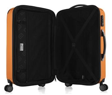 HAUPTSTADTKOFFER - Alex - 4 Doppel-Rollen Hartschalen-Koffer Koffer Trolley Rollkoffer Reisekoffer, TSA, 65 cm, 74 Liter, Orange - 6
