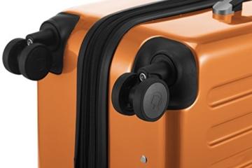 HAUPTSTADTKOFFER - Alex - 4 Doppel-Rollen Hartschalen-Koffer Koffer Trolley Rollkoffer Reisekoffer, TSA, 65 cm, 74 Liter, Orange - 7