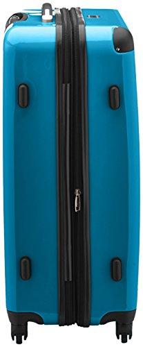 HAUPTSTADTKOFFER - Alex - Hartschalen-Koffer Koffer Trolley Rollkoffer Reisekoffer Erweiterbar, 4 Rollen, TSA, 75 cm, 119 Liter, Cyanblau - 2