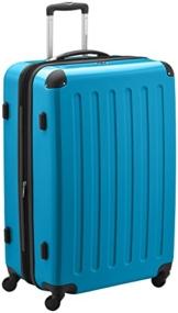 HAUPTSTADTKOFFER - Alex - Hartschalen-Koffer Koffer Trolley Rollkoffer Reisekoffer Erweiterbar, 4 Rollen, TSA, 75 cm, 119 Liter, Cyanblau - 1