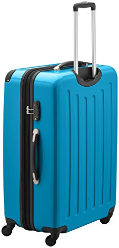 HAUPTSTADTKOFFER - Alex - Hartschalen-Koffer Koffer Trolley Rollkoffer Reisekoffer Erweiterbar, 4 Rollen, TSA, 75 cm, 119 Liter, Cyanblau - 4
