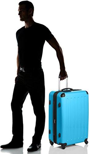 HAUPTSTADTKOFFER - Alex - Hartschalen-Koffer Koffer Trolley Rollkoffer Reisekoffer Erweiterbar, 4 Rollen, TSA, 75 cm, 119 Liter, Cyanblau - 5