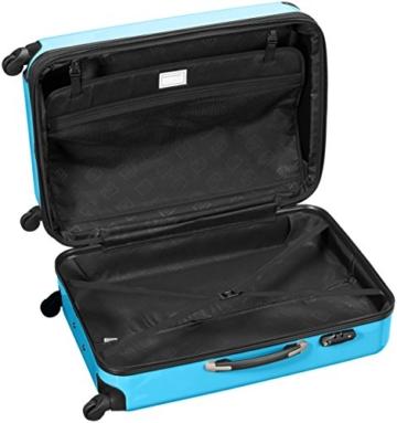HAUPTSTADTKOFFER - Alex - Hartschalen-Koffer Koffer Trolley Rollkoffer Reisekoffer Erweiterbar, 4 Rollen, TSA, 75 cm, 119 Liter, Cyanblau - 6