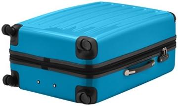 HAUPTSTADTKOFFER - Alex - Hartschalen-Koffer Koffer Trolley Rollkoffer Reisekoffer Erweiterbar, 4 Rollen, TSA, 75 cm, 119 Liter, Cyanblau - 7