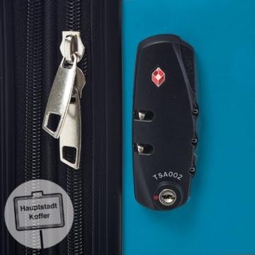 HAUPTSTADTKOFFER - Alex - Hartschalen-Koffer Koffer Trolley Rollkoffer Reisekoffer Erweiterbar, 4 Rollen, TSA, 75 cm, 119 Liter, Cyanblau - 8