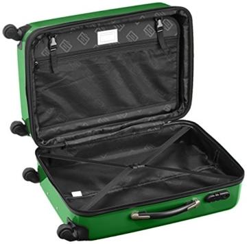 HAUPTSTADTKOFFER - Alex Kofferset - 2 x mittelgroßer Koffer Hartschalentrolley mit Erweiterung, 55 cm, 42 Liter, Grün - 4