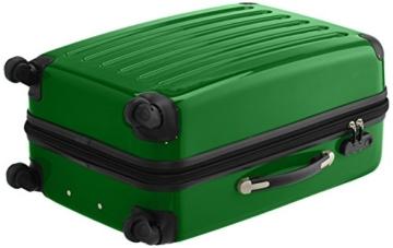 HAUPTSTADTKOFFER - Alex Kofferset - 2 x mittelgroßer Koffer Hartschalentrolley mit Erweiterung, 55 cm, 42 Liter, Grün - 5
