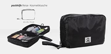 HAUPTSTADTKOFFER - Packhilfe – Koffer Reise-Organizer Set 6-teilig, mobiler Kleiderschrank + multifunktionale Packtasche (M), Kosmetiktasche, 3 kleine Utensilien-Taschen - 4