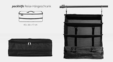 HAUPTSTADTKOFFER - Packhilfe – Koffer Reise-Organizer Set 6-teilig, mobiler Kleiderschrank + multifunktionale Packtasche (M), Kosmetiktasche, 3 kleine Utensilien-Taschen - 5
