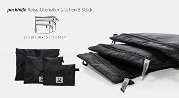 HAUPTSTADTKOFFER - Packhilfe – Koffer Reise-Organizer Set 6-teilig, mobiler Kleiderschrank + multifunktionale Packtasche (M), Kosmetiktasche, 3 kleine Utensilien-Taschen - 6
