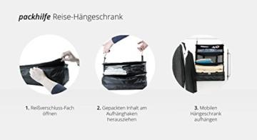 HAUPTSTADTKOFFER - Packhilfe – Koffer Reise-Organizer Set 6-teilig, mobiler Kleiderschrank + multifunktionale Packtasche (M), Kosmetiktasche, 3 kleine Utensilien-Taschen - 7