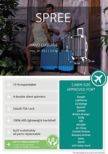 HAUPTSTADTKOFFER - Spree - Kabinentrolley + Kofferanhänger, Handgepäck Hartschale mit Erweiterung, TSA, 4 Rollen, 55 cm, 42 Liter, Orange - 5