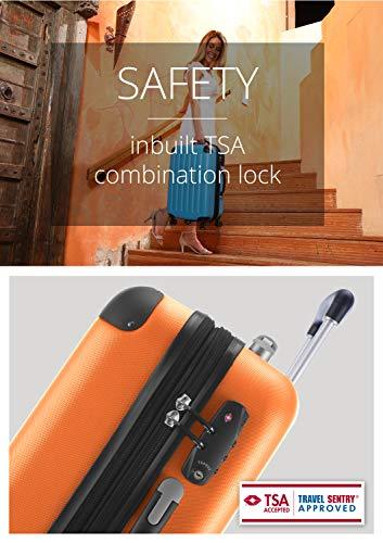 HAUPTSTADTKOFFER - Spree - Kabinentrolley + Kofferanhänger, Handgepäck Hartschale mit Erweiterung, TSA, 4 Rollen, 55 cm, 42 Liter, Orange - 6