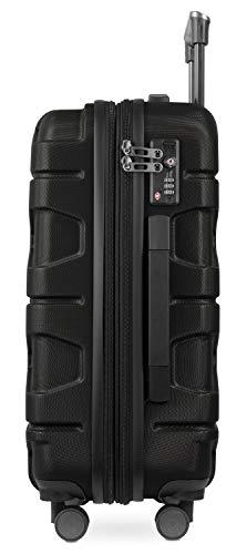 HAUPTSTADTKOFFER - X-Kölln - Handgepäck Trolley, Bordgepäck, Koffer, Volumenerweiterung, TSA, 4 gummierte Doppelrollen, 55 cm, 50 L, Schwarz matt - 3