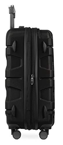 HAUPTSTADTKOFFER - X-Kölln - Handgepäck Trolley, Bordgepäck, Koffer, Volumenerweiterung, TSA, 4 gummierte Doppelrollen, 55 cm, 50 L, Schwarz matt - 4