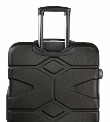 HAUPTSTADTKOFFER - X-Kölln - Handgepäck Trolley, Bordgepäck, Koffer, Volumenerweiterung, TSA, 4 gummierte Doppelrollen, 55 cm, 50 L, Schwarz matt - 5