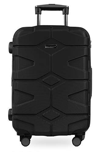 HAUPTSTADTKOFFER - X-Kölln - Handgepäck Trolley, Bordgepäck, Koffer, Volumenerweiterung, TSA, 4 gummierte Doppelrollen, 55 cm, 50 L, Schwarz matt - 6