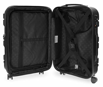 HAUPTSTADTKOFFER - X-Kölln - Handgepäck Trolley, Bordgepäck, Koffer, Volumenerweiterung, TSA, 4 gummierte Doppelrollen, 55 cm, 50 L, Schwarz matt - 7